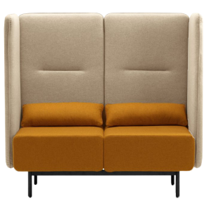 Calesita Sofa Dialog orange 2er frontal