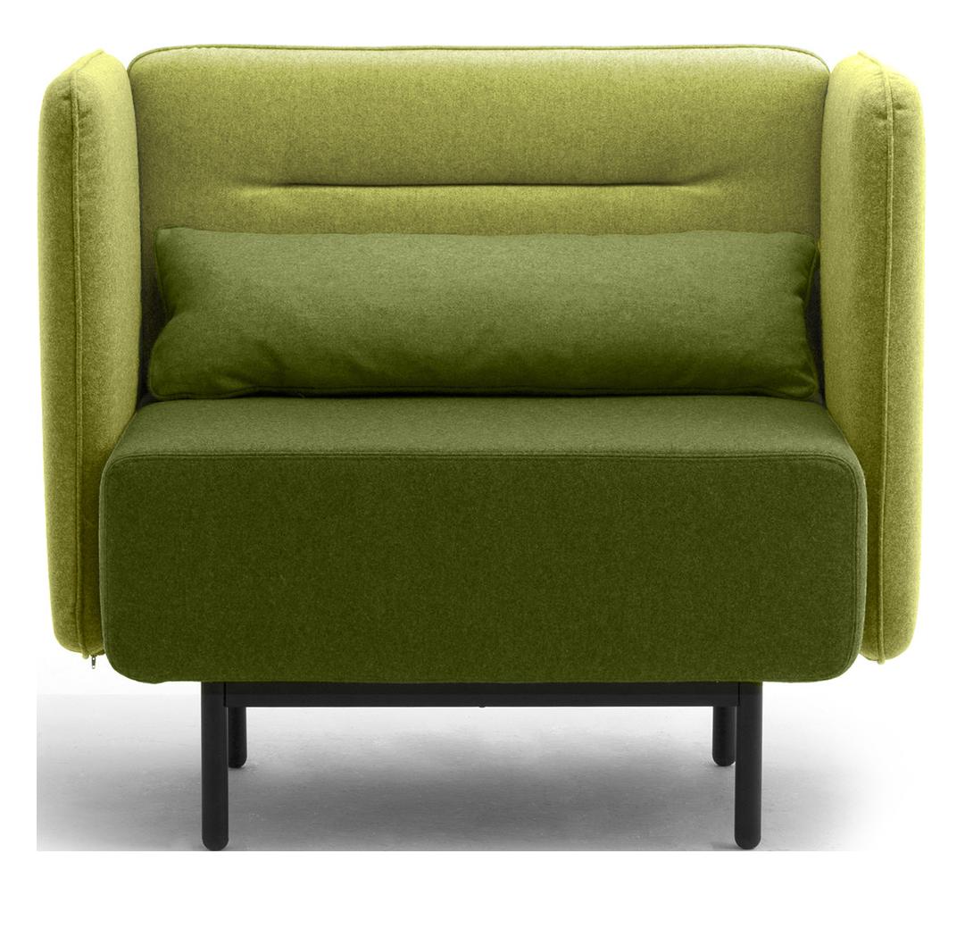 Calesita Sofa Dialog grün Sessel niedrig frontal