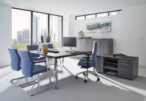 All in one Schreibtischsystem by fm Büromöbel