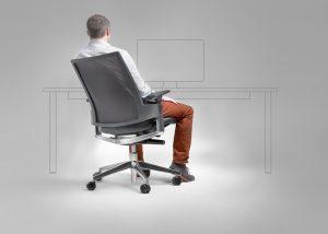 Bürodrehstuhl LeonX 3.6 Mann ihm Stuhl