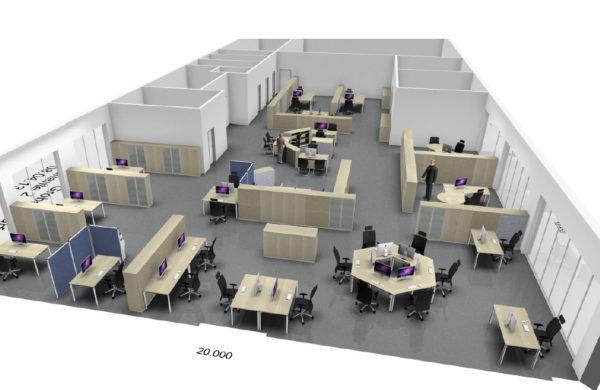 Planungsansicht Arbeitsplätze