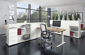 Einzelarbeitsplatz Schreibtisch Bürodrehstuhl