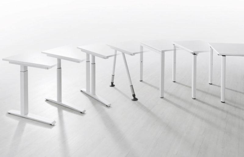 Produkte Schreibtischsysteme All in one Gestelle Übersicht