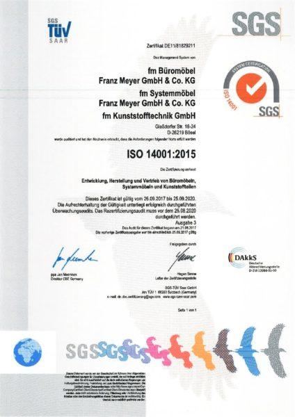 DIN EN ISO 14001 2015 deutsch