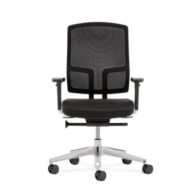 Bürodrehstuhl NetGo schwarz frontal