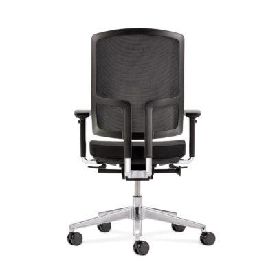 Bürodrehstuhl NetGo schwarz Rückansicht