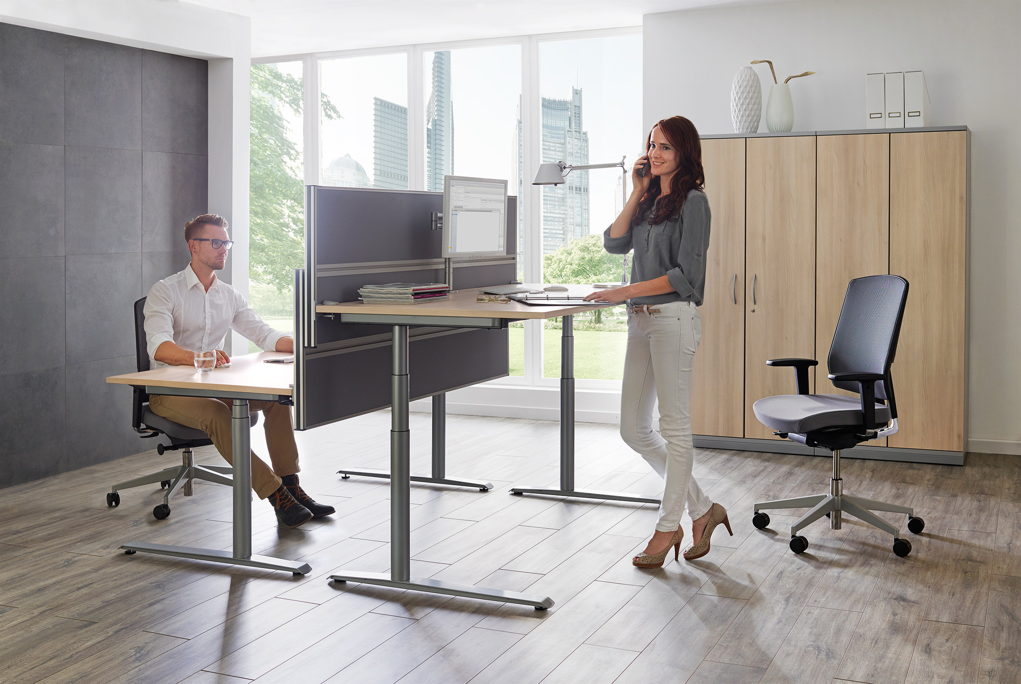 Sitztisch Stehtisch all in one fm62 Kombi