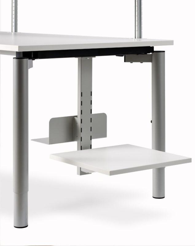 Schreibtischsysteme Zubehör Grundträger PC Halter Druckertablar