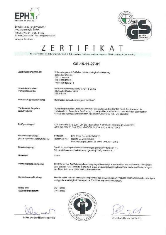 GS Zertifikat Endless