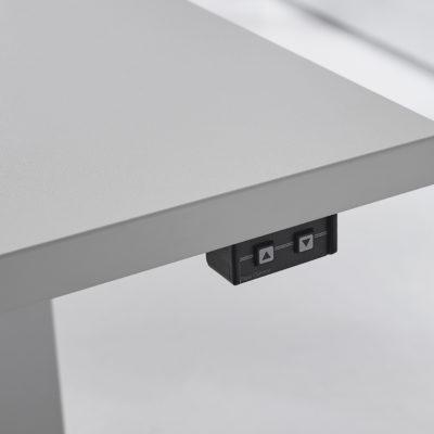 Sitztisch Stehtisch all in one move 2.0 auf und ab Funktion Detail