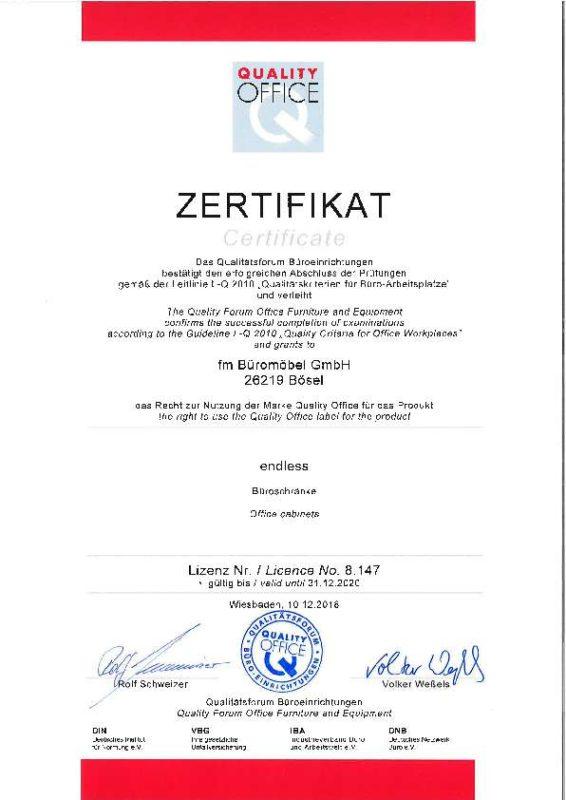 Quality Office Zertifikat endless part 1