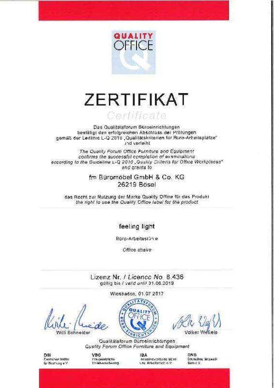 Quality Office Zertifikat feeling part 2