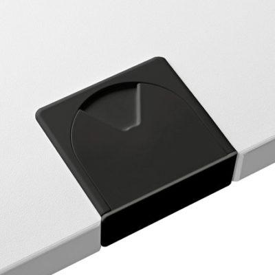 Schreibtischsysteme Zubehör Kabeldurchlassbuchsen Eckig Schwarz
