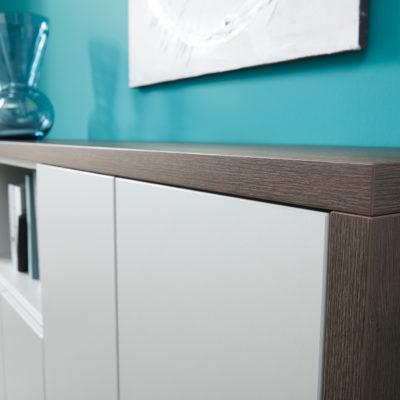 Sideboard Detailansicht weiß