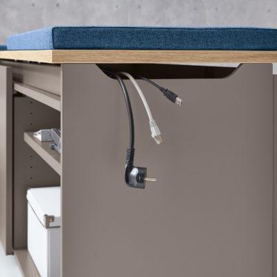 Detailansicht Schreibtisch