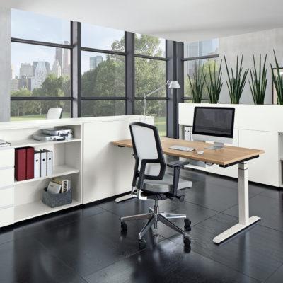 Arbeitsplatz Ansicht Milieu Schreibtisch
