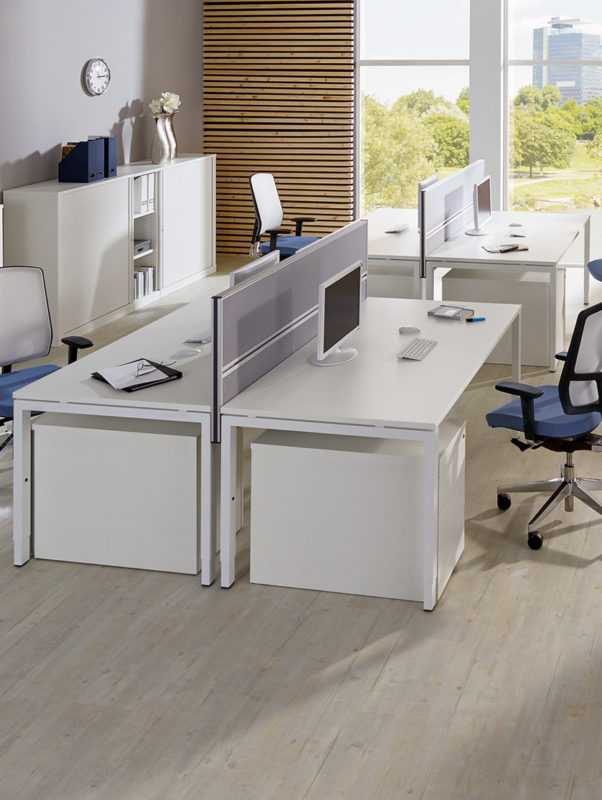 all in one Schreibtischsysteme Draufsicht Milieu