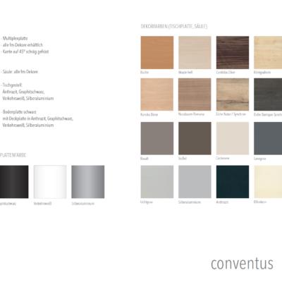 Konferenz und Meeting Conventus Farben Übersicht