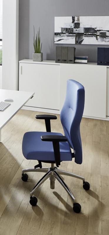 Bürodrehstuhl Startup2 blau schräg