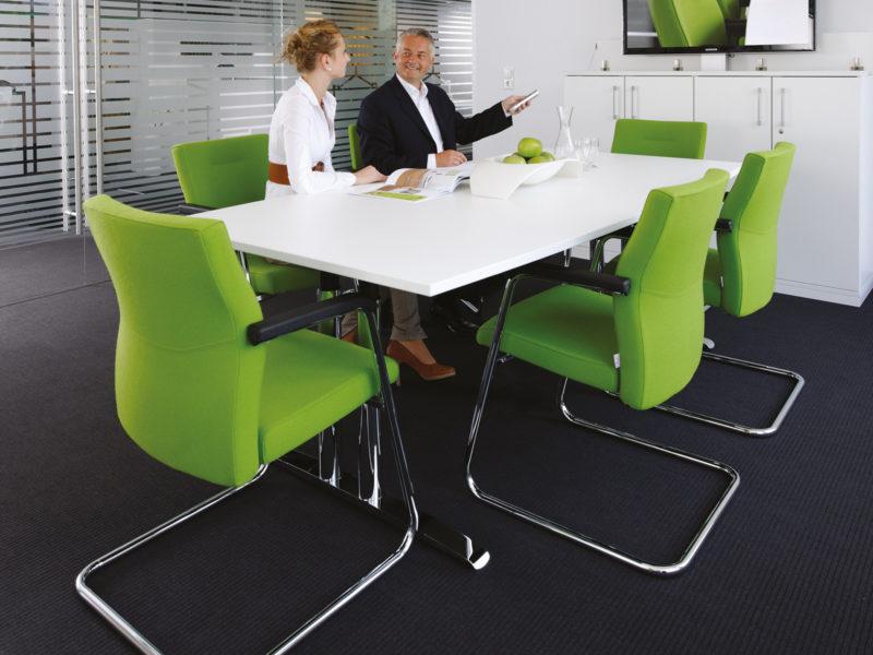 Besucherstuhl Konferenzstuhl Startup2 Milieu grün