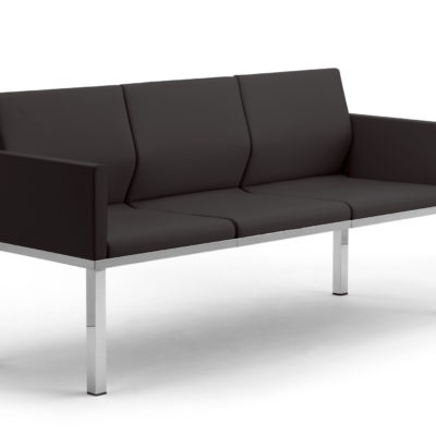 Calesita Sofa Status Loungesofa 3er schwarz schräg