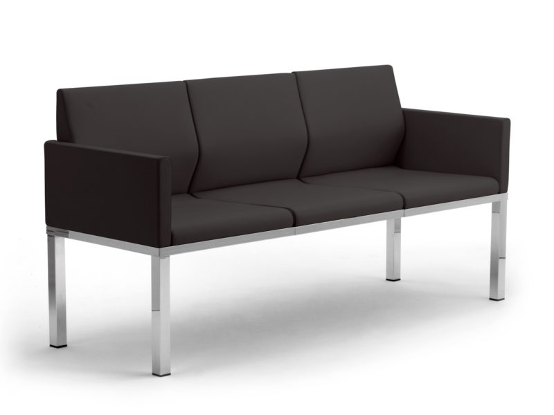 Calesita Sofa Status Loungesofa 3er schwarz