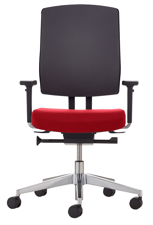 Bürodrehstuhl NetGo rot frontal