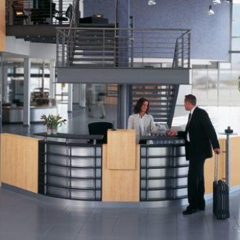 Empfangstheke Empfangsbereich Welcome - fm Büromöbel