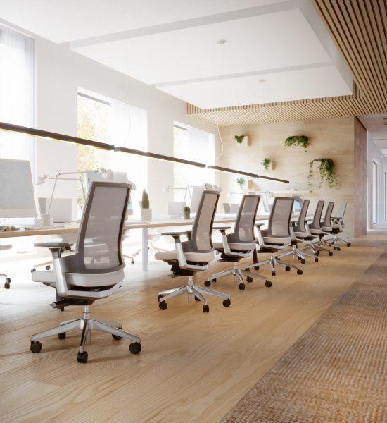Bürodrehstuhl LeonX 3.6 an Konferenztisch