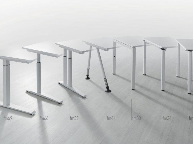 Produkte Schreibtischsysteme Gestellübersicht Platformstrategie