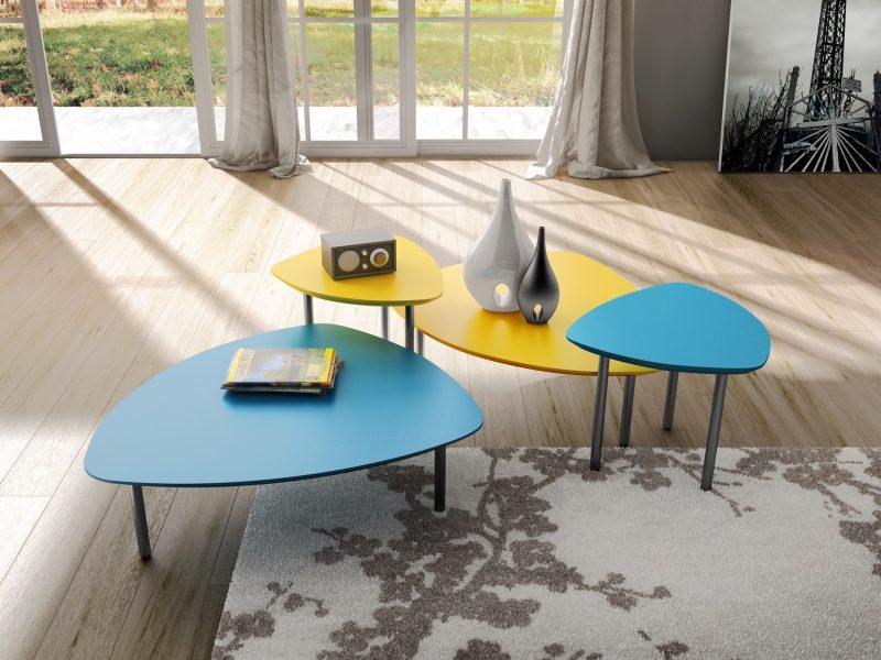 Calesita Tisch Tresta blau und gelb