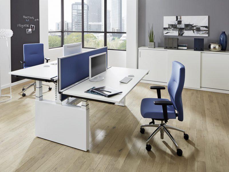 Sitztisch Stehtisch all in one Twinbase Milieuansicht